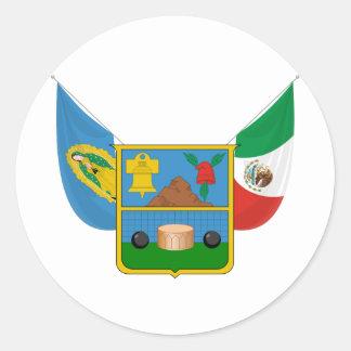 Coat Arms Hidalgo Offical Mexico Heraldry Symbol Classic Round Sticker