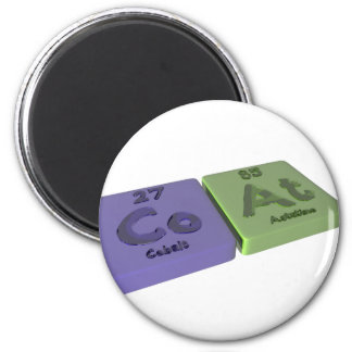 Coat as Co Cobalt and At Astatine 2 Inch Round Magnet