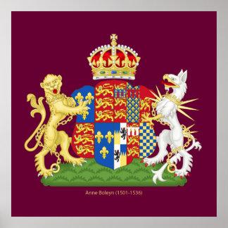 Coat of Arms Anne Boleyn Poster