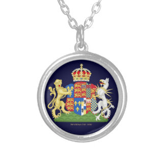 Coat of Arms Anne Boleyn Silver Plated Necklace