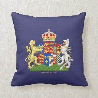 Coat of Arms Anne Boleyn Throw Pillow