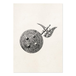 Coat of Arms Axe Shield Armor Medieval Weapon Large Business Card