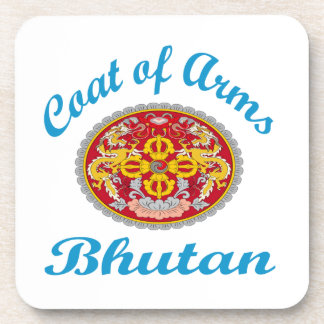 Coat Of Arms Bhutan Coaster