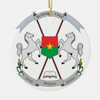 Coat of Arms Burkina Faso - Armoiries Burkina Faso Ceramic Ornament