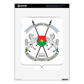 Coat of Arms Burkina Faso - Armoiries Burkina Faso Decals For iPad 3