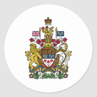 Coat of arms Canada Official Heraldry Symbol Logo Classic Round Sticker