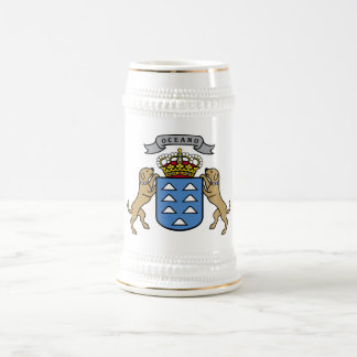 Coat of Arms Canary Islands Official Symbol Spain Mugs