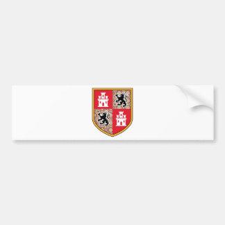 Coat Of Arms Castle Lions Bumper Sticker