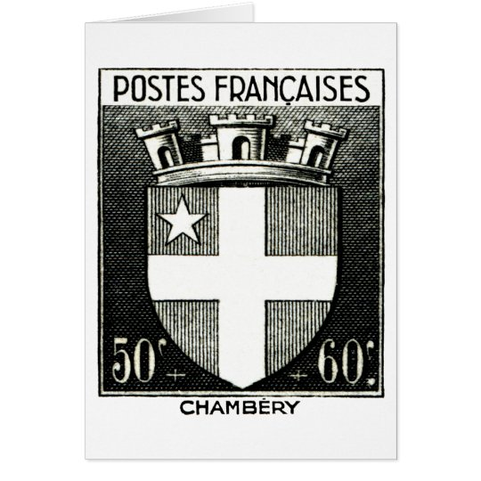 Coat of Arms, Chambery France Card