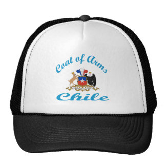 Coat Of Arms Chile Hats