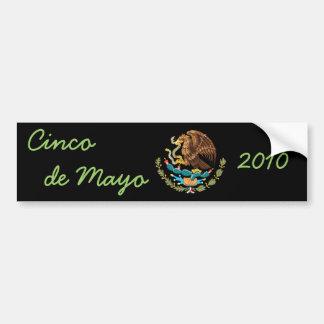 Coat of Arms Cinco de Mayo 2010 Bumper Sticker 1