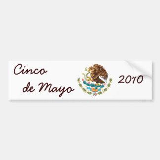 Coat of Arms Cinco de Mayo 2010 Bumper Sticker 2
