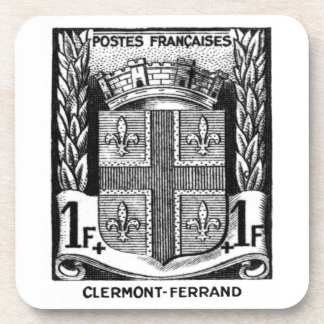 Coat of Arms, Clermont-Ferrand France. Coaster