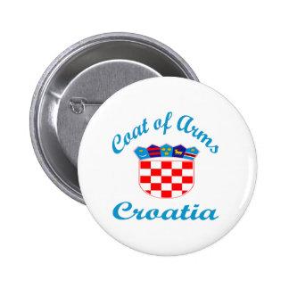 Coat Of Arms Croatia Pinback Button