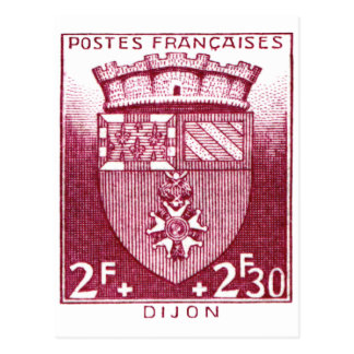 Coat of Arms, Dijon France Post Card