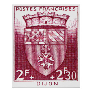 Coat of Arms, Dijon France Poster