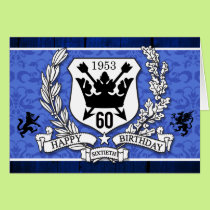 Coat of Arms Family Crest 60th Birthday Cards