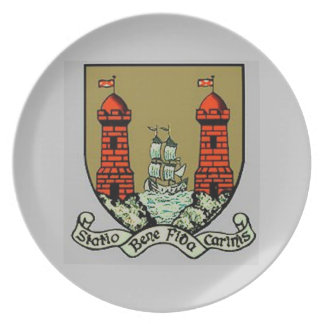 Coat of Arms for Cork Ireland Party Plates