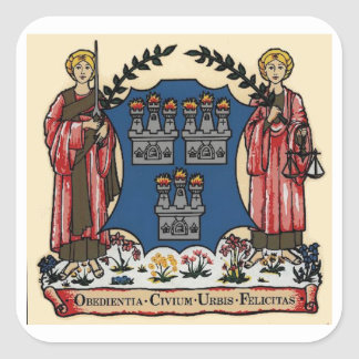 Coat of Arms for Dublin,Ireland Sticker