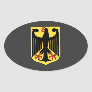 Coat of Arms for Germany Oval Sticker