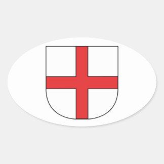 Coat of arms Freiburg in mash gau Oval Sticker