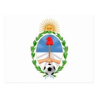 Coat of Arms futbol La Albiceleste gifts Postcard