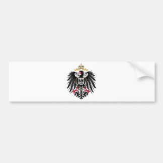 Coat of arms German Reich of 1889 realm eagles Bumper Sticker