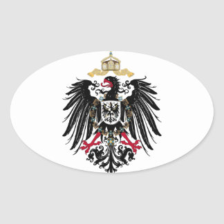 Coat of arms German Reich of 1889 realm eagles Oval Sticker