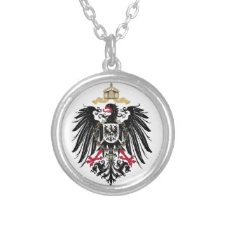 Coat of arms German Reich of 1889 realm eagles Silver Plated Necklace