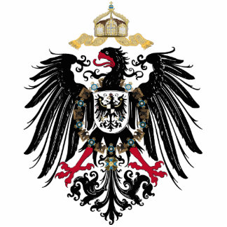 Coat of arms German Reich of 1889 realm eagles Statuette