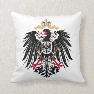 Coat of arms German Reich of 1889 realm eagles Throw Pillow