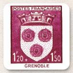 Coat of Arms, Grenoble France Beverage Coaster