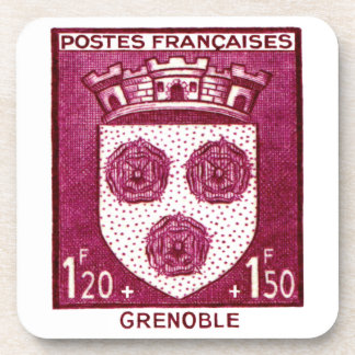 Coat of Arms, Grenoble France Coaster