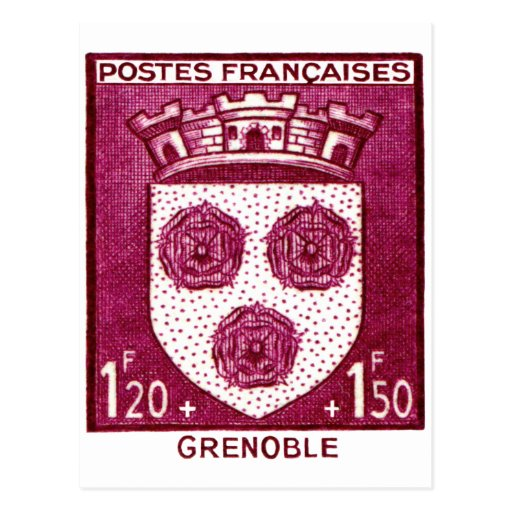 Coat of Arms, Grenoble France Post Card
