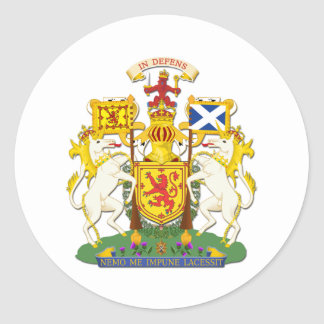 Coat Of Arms Kingdom Of Scotland Classic Round Sticker