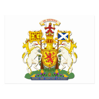 Coat Of Arms Kingdom Of Scotland Postcard