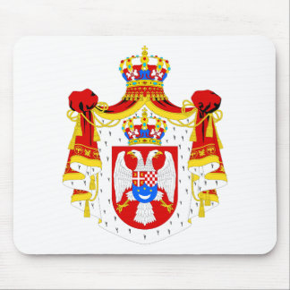 Coat of arms Kingdom of Yugoslavia Official Symbol Mouse Pad