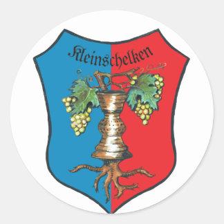 Coat of arms Kleinschelken Round Stickers