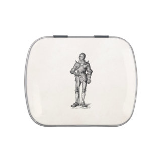 Coat of Arms Knight Shining Armor Sword Medieval Jelly Belly Tin