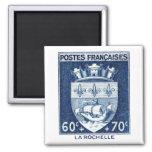 Coat of Arms, La Rochelle France 2 Inch Square Magnet