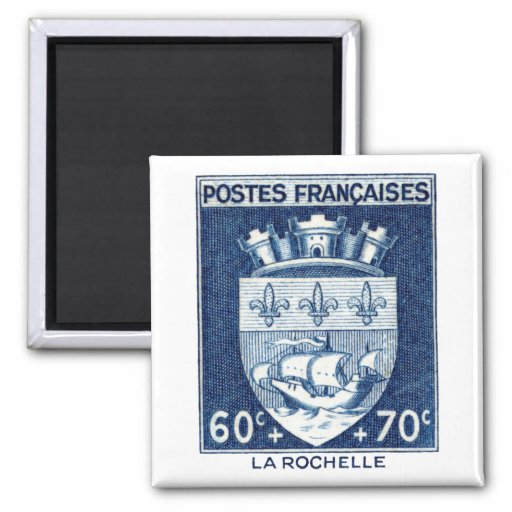 Coat of Arms, La Rochelle France Refrigerator Magnets