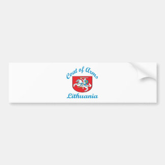 Coat Of Arms Lithuania Car Bumper Sticker
