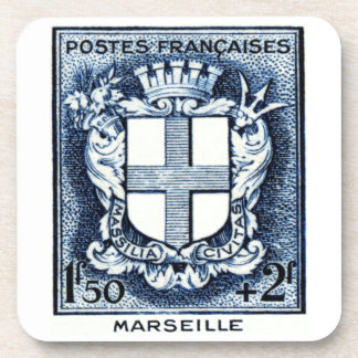 Coat of Arms, Marseille France Coaster
