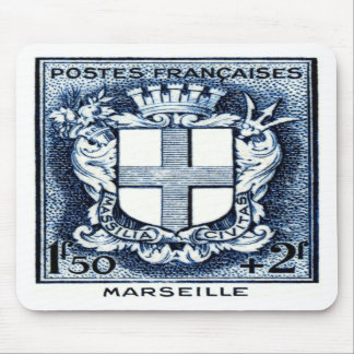 Coat of Arms, Marseille France Mousepad
