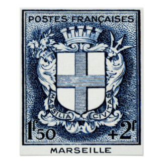 Coat of Arms, Marseille France Poster