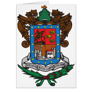 Coat of arms Michoacan Official Mexico Symbol Logo Card