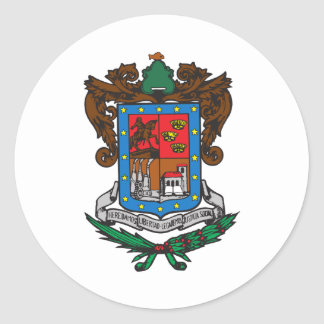 Coat of arms Michoacan Official Mexico Symbol Logo Classic Round Sticker