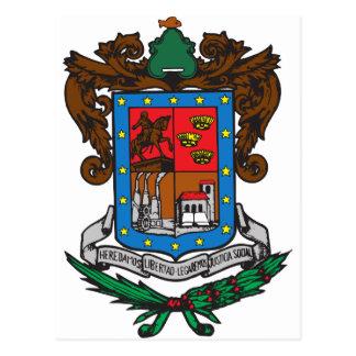 Coat of arms Michoacan Official Mexico Symbol Logo Postcard