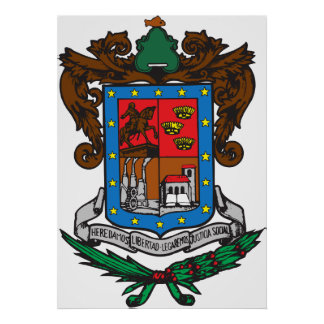 Coat of arms Michoacan Official Mexico Symbol Logo Poster