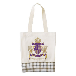 Coat of Arms Monogram Emblem Golden Lion Shield Zazzle HEART Tote Bag